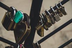 Cadenas en parc de l'amour Photographie stock libre de droits
