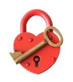 Cadenas et clé. Images libres de droits