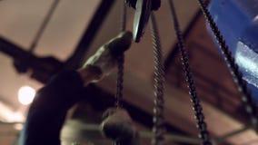 Cadenas industriales del redondo-vínculo para los alzamientos almacen de video