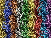 Cadenas multicoloras Fotografía de archivo