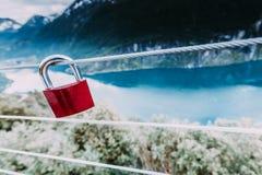Cadenas rouge et Geirangerfjord de point de vue Norvège de Flydasjuvet Photos stock