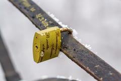 Cadenas sur le pont de tous les amants Photo stock
