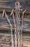 Cadenas viejas del metal foto de archivo libre de regalías