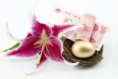 Cadence élevée de l'épargne en Chine Image libre de droits