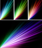 Cadences on Abstract Red Spectrum Background Stock Image