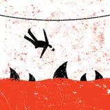 Cadendo da Tightrope illustrazione di stock