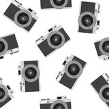 Caderas inconsútiles de la foto del vintage del modelo retro negro gris oscuro de la cámara libre illustration