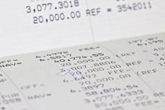 Caderneta bancária de conta da economia Imagens de Stock Royalty Free