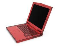 Caderno 3D transparente vermelho rendido ilustração do vetor