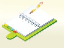 Caderno ilustração stock