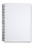 Caderno alinhado espiral Imagens de Stock