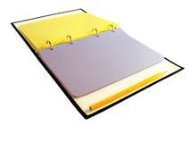 Caderno & lápis Foto de Stock