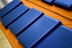 Caderno azul foto de stock royalty free