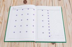 Caderno branco Fotos de Stock Royalty Free
