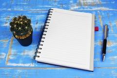 Caderno branco foto de stock royalty free