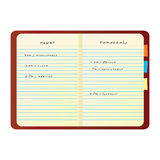 Caderno colorido do vetor Foto de Stock