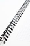 Caderno com fio preto Fotos de Stock Royalty Free