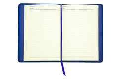 Caderno com marcador Imagem de Stock