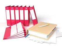 Caderno com pastas Ilustração Stock