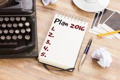 Caderno com plano anual Foto de Stock