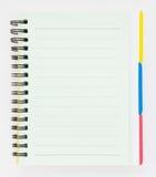 Caderno com Tag ilustração do vetor