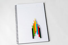 Caderno com um lápis Imagem de Stock Royalty Free