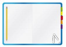 Caderno com um lápis - imagem do vetor Imagens de Stock