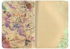 Caderno com um respingo Foto de Stock Royalty Free