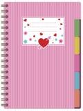 Caderno cor-de-rosa ilustração stock