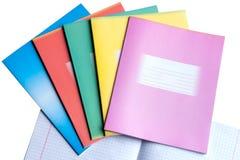 Caderno da escola imagem de stock