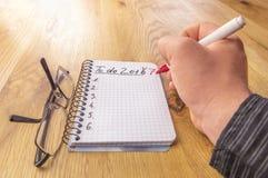 Caderno da matemática com para fazer a lista para 2017 Imagem de Stock