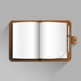 Caderno de Brown Foto de Stock