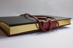 Caderno de couro foto de stock royalty free