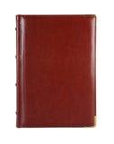 Caderno de couro de Brown Imagens de Stock Royalty Free