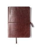 Caderno de couro de Brown Fotografia de Stock Royalty Free