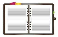 Caderno de couro em anéis Imagens de Stock