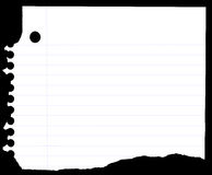 Caderno de papel Imagens de Stock