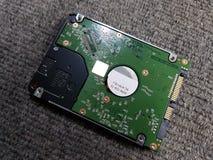 Caderno do disco duro da mostra fotografia de stock