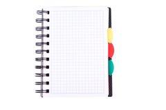 Caderno do escritório. De volta ao conceito da escola. Nota de post-it. Imagens de Stock Royalty Free