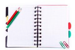 Caderno do escritório. De volta ao conceito da escola. Nota de post-it. Imagem de Stock
