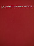 Caderno do laboratório Fotografia de Stock