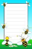Caderno do miúdo com a página alinhada em branco Foto de Stock