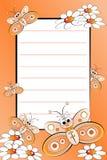 Caderno do miúdo com a página alinhada em branco Fotografia de Stock Royalty Free