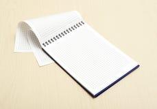 Caderno do papel de gráfico foto de stock royalty free