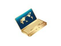 Caderno dourado Fotos de Stock Royalty Free