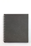 Caderno duro preto da tampa Fotografia de Stock