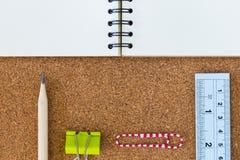 Caderno e estacionário Imagem de Stock