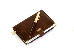 Caderno e Fountain-pen foto de stock royalty free