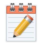 Caderno e lápis Imagem de Stock