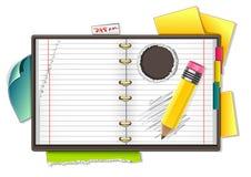Caderno e lápis Ilustração do Vetor